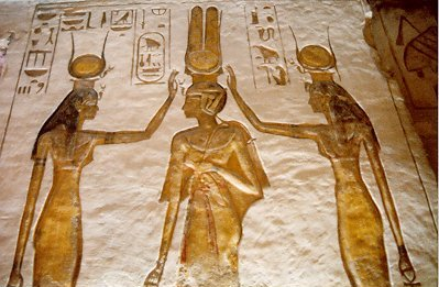 Decoración templo de Hathor, Abu Simbel
