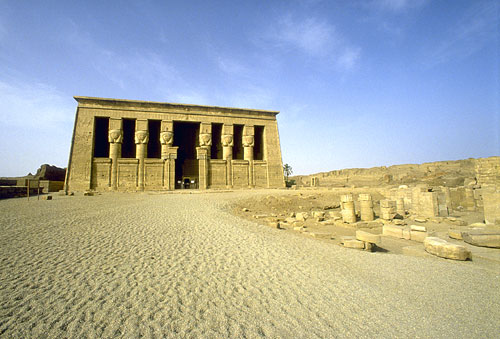 El templo de Hathor, en Dendera