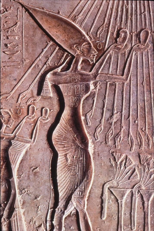 Akhenaton, ofrenda, karnak