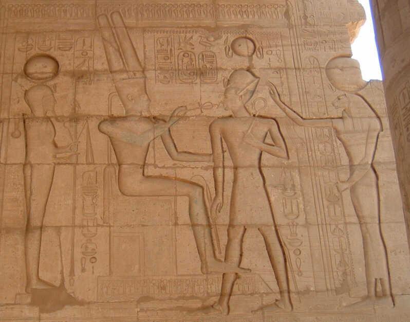 Bajorrelieve en el Ramesseum