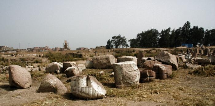 Ruinas de Bubastis, delta del Nilo.