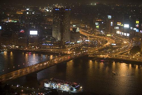 El Cairo, vista desde la Torre de El cairo, Gezira.