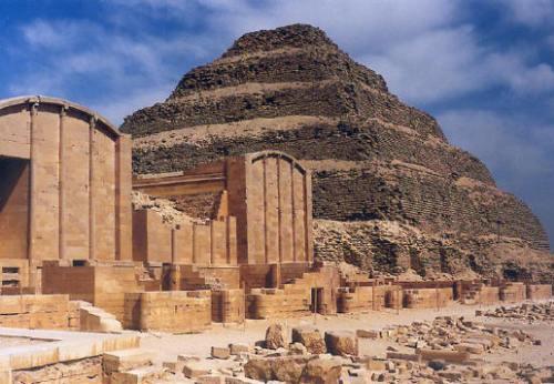 Menfis, pirámide escalonada de Sakkara, necrópolis, antiguo egipto