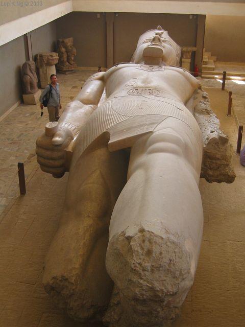 Coloso de Ramsés II, museo de Menfis