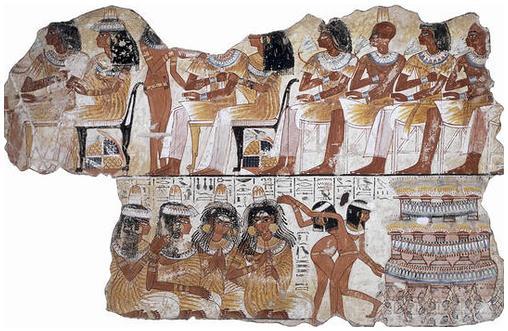 El banquete funerario del Antiguo Egipto