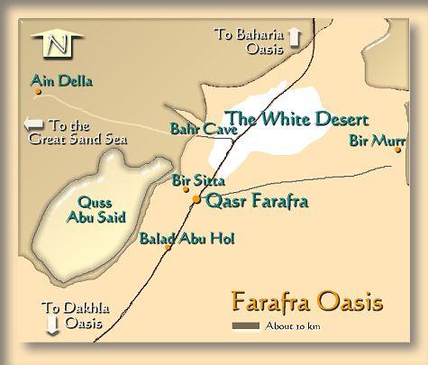 Mapa de Farafra