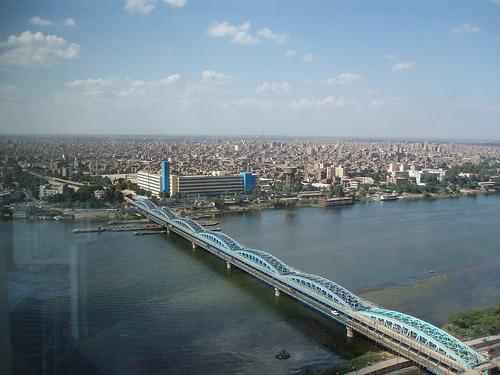 Cairo y el Puente de Imbaba, cruzando el Nilo