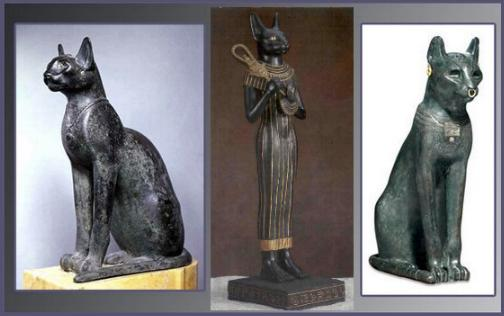 La diosa Bastet y los gatos en el Antiguo Egipto
