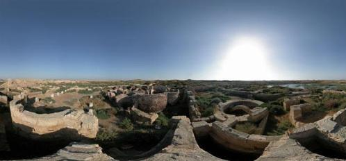 La antigua cuidad y el monasterio de Abu Mina