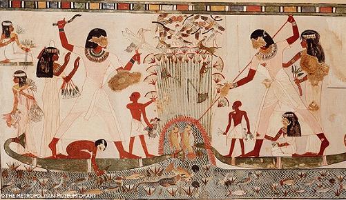 Pintura en la tumba de Menna