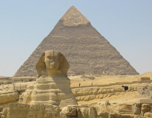 Las Gran Pirámide de Giza y la Gran Esfinge
