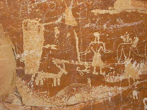Roca con inscripciones