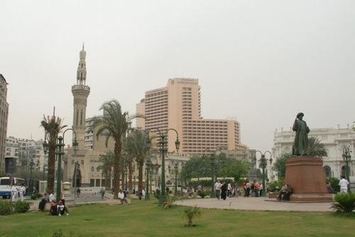 La plaza Midan Tahrir, en El Cairo