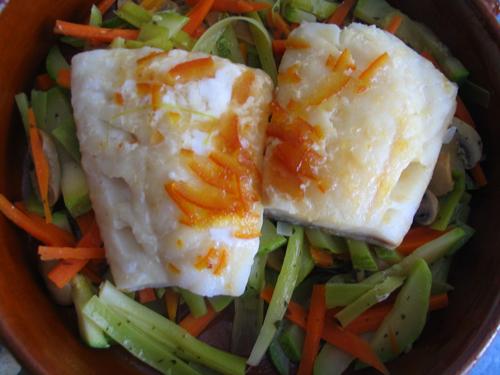 Bacalao con vegetales, receta típica de Egipto