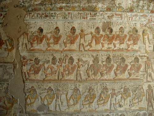 Escena banquete funerario Tumba Ahmose