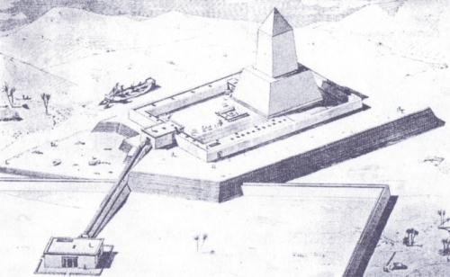 Reconstruccion del templo de Niuserre