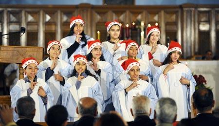 Coro de Navidad en Egipto