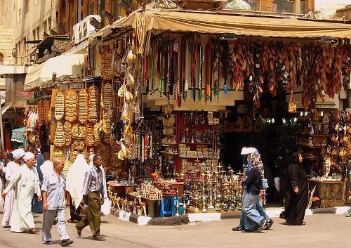 De compras por Egipto