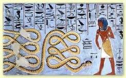 Grabado de serpientes