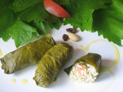 Hojas de parra rellenas, receta egipcia