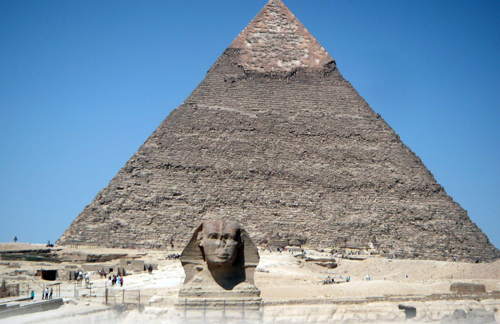 Esfinge y pirámide de Keops