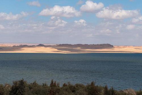 Lago Qarun, área protegida de Egipto