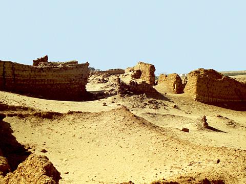 Ruinas de Bacchias en El Fayum