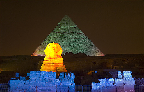 Pirámides de Gizeh: espectáculo de luz y sonido