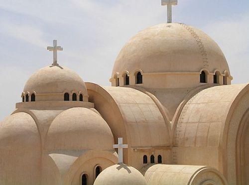 El monasterio de San Bishoi, en Wadi Natrun