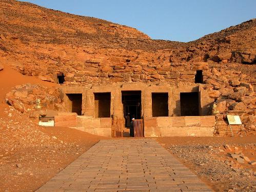 Decoración del Templo de Derr en Nubia