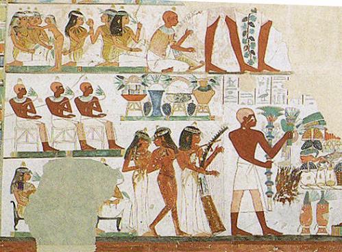La Tumba de Nakht, escenas de musica y baile